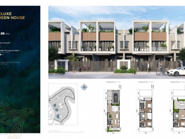 Nhà phố 06 20 m TH.01 Deluxe Green House Aqua City