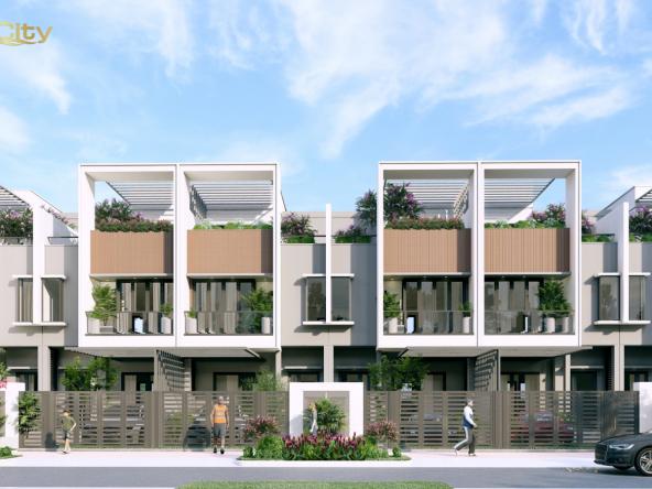Nhà phố 06 20 m TH.01 Deluxe Green House Aqua City phối cảnh